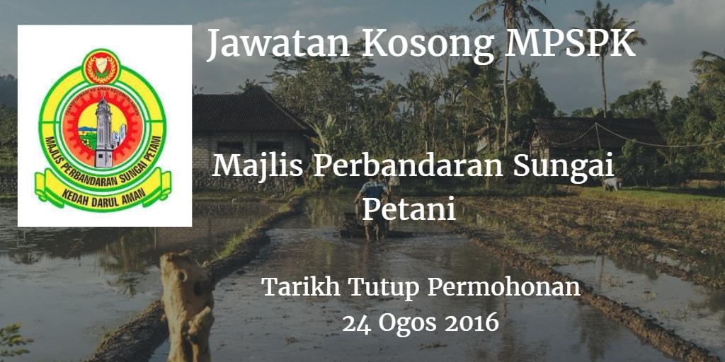 Jawatan Kosong MPSPK 24 Ogos 2016