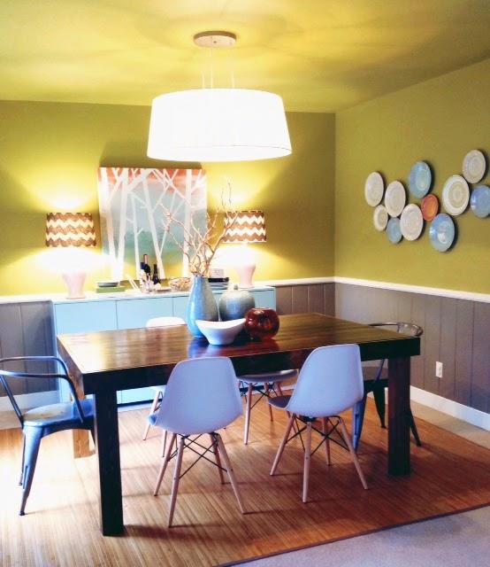 IdeaDesignMake: Green Gray Aqua Dining Room
