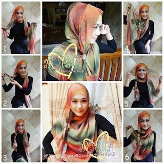 Tutorial Hijab Paris Modern 2015