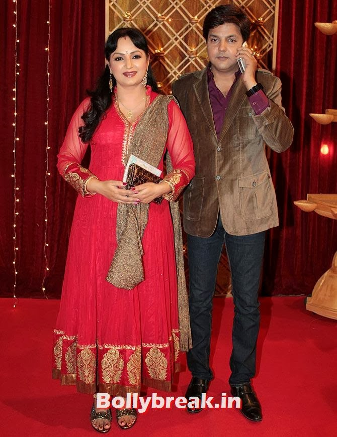 Upasna Singh and Neeraj Bhardwaj on Indian Tele Awards 2013 Red carpet, Indian Tele Awards 2013 red Carpet Pictures - ITA - Lauren Gottlieb, Mouni Roy, Ratan Rajput