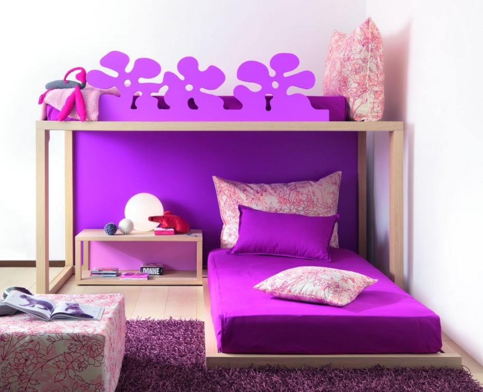 childrens bedrooms cute purple design