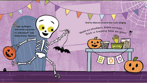 Skelly's Halloween book review with 5 fabulous and free skeleton printables. These Halloween freebies are perfect for kids 4 to 8. #gradeonederful #halloween #skellyshalloween #skeleton #halloweenfreebies