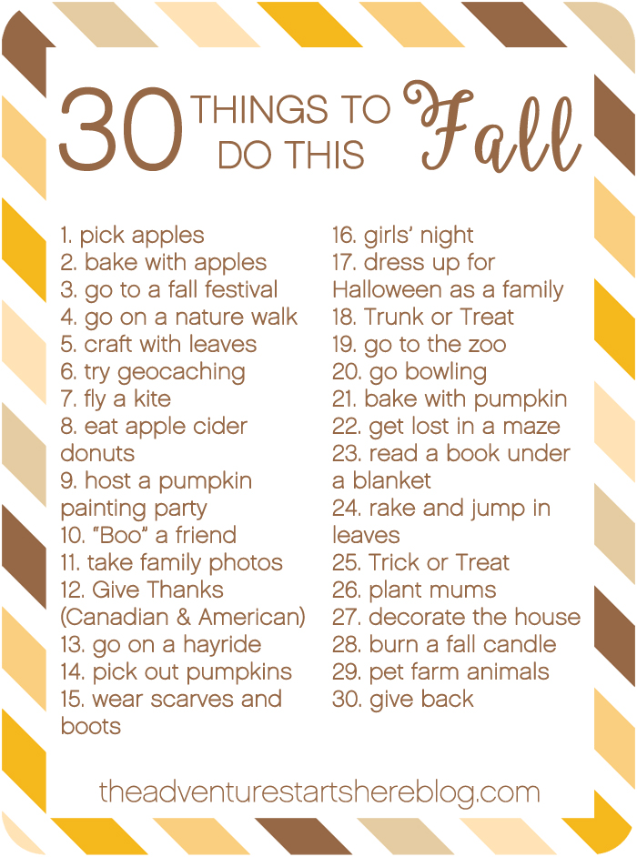 And While Im Sure There Are At Least  Fun Things To Do In The Fall Here Are My Top