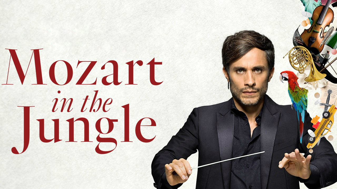 Imagen promocional de Amazon para 'Mozart in the Jungle' protagonizada por Gael García Bernal