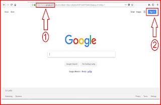 Go to google .com