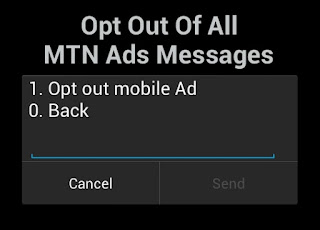 Dial to opt out of MTN mobile ads