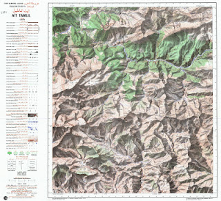 Ait-TaMLIL Morocco 50000 (50k) Topographic map free download