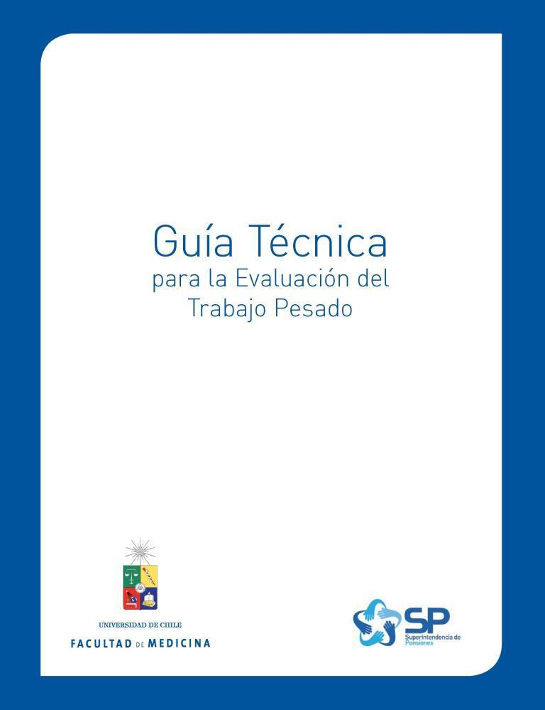 Guía técnica para la evaluación del trabajo pesado