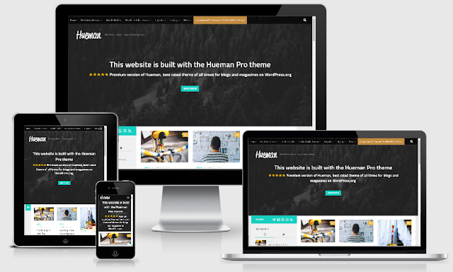 Hueman - Theme Wordpress SEO Friendly Free Download Keren Banget