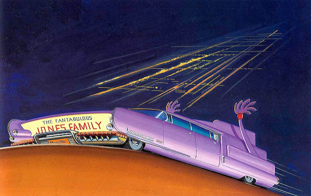 Bruce McCall illustration The Fantabulous Jones Family