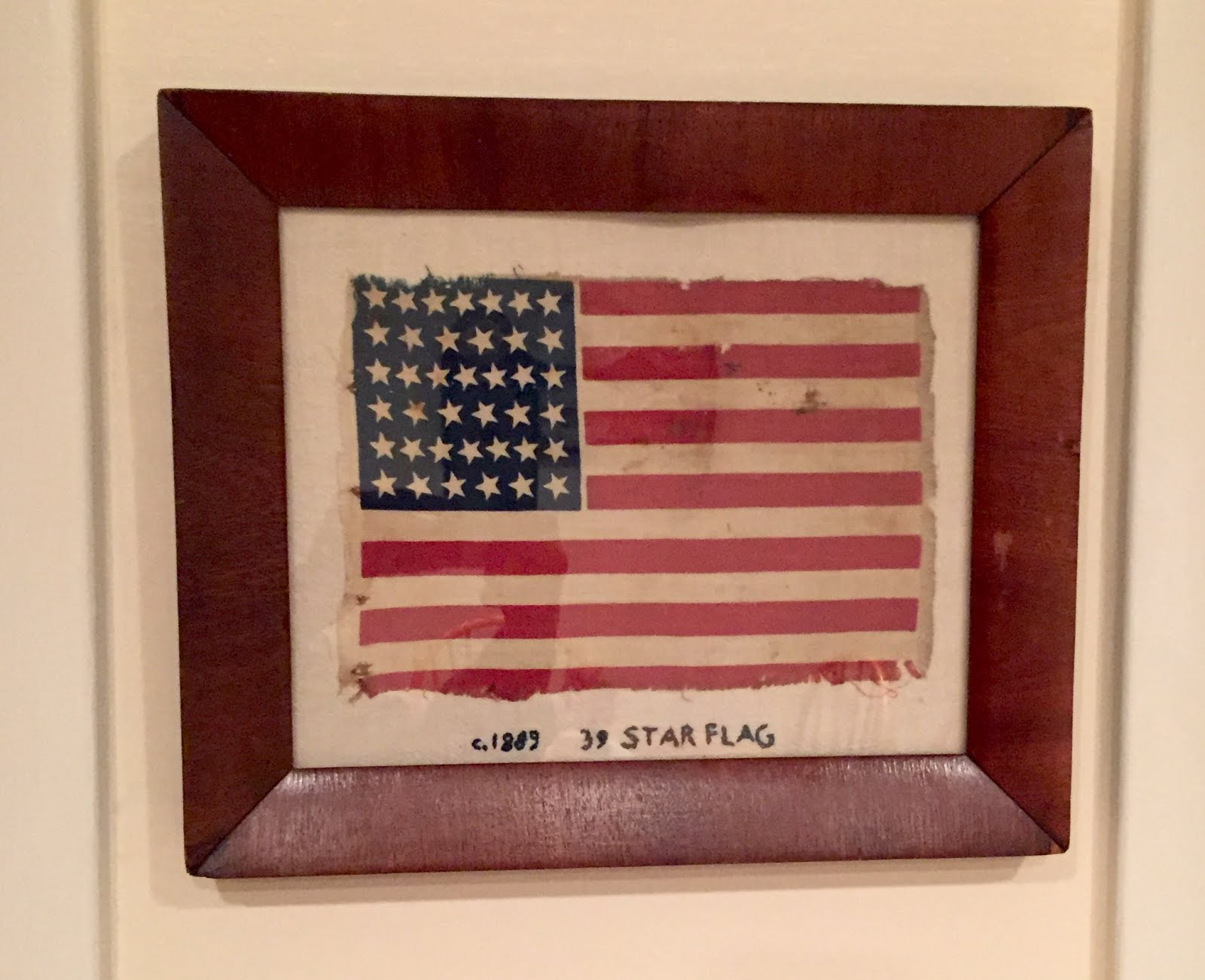 ca 1889 ~ 39 Star American Flag