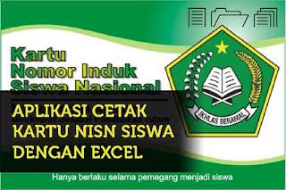 NISN atau Nomor Induk Siswa Nasional adalah nomor identitas siswa yang digunakan mulai da Geveducation:  Aplikasi Cetak Kartu NISN Dengan Excel Gratis