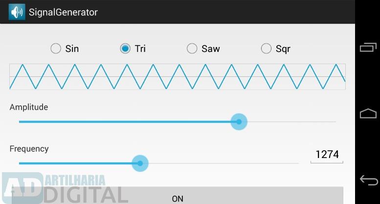 Signal Generator - Aplicativo gratuito para engenharia elétrica, eletrônica, robótica e afins!