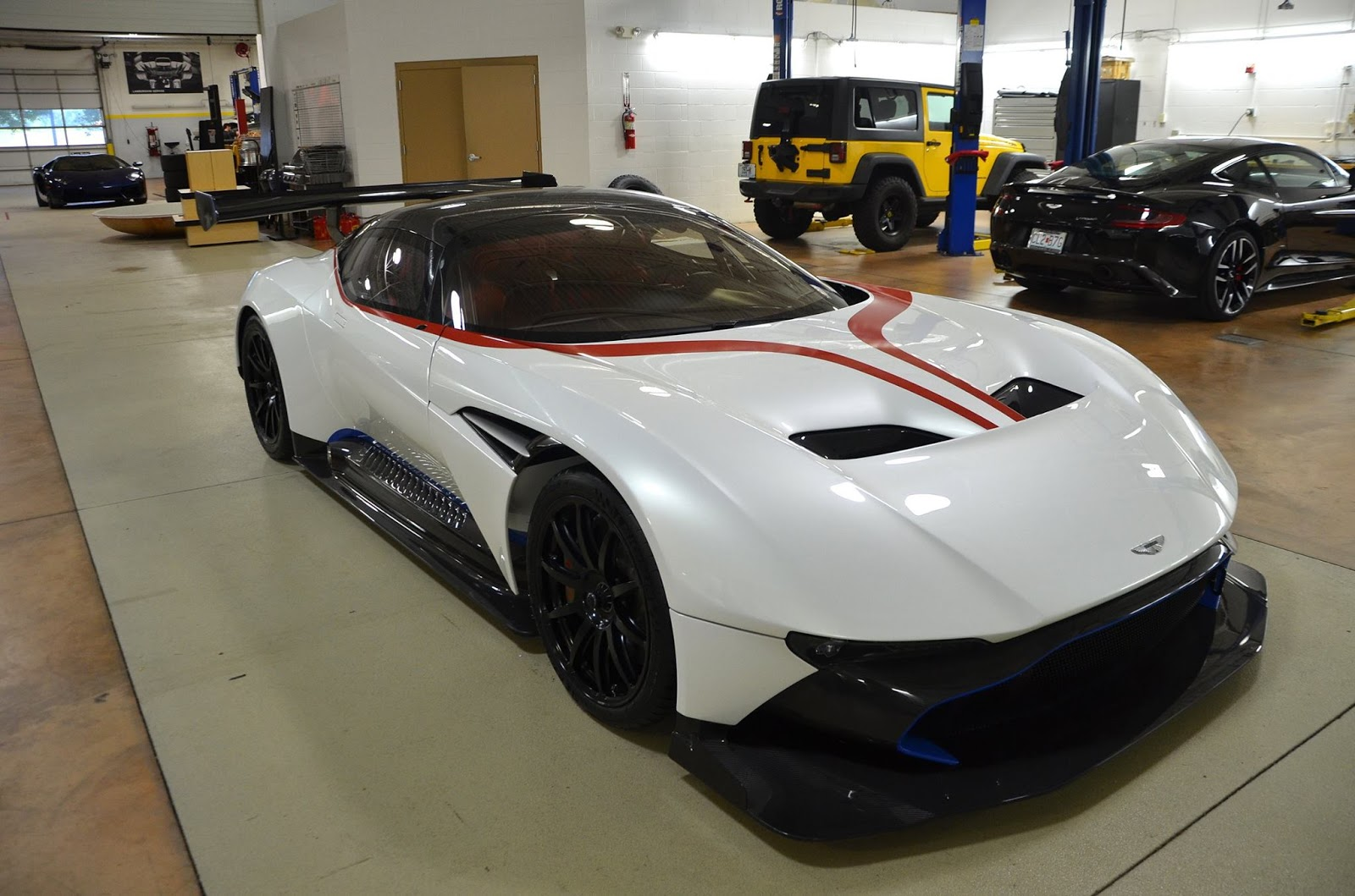 Patriotic Aston Martin Vulcan Lands In The USA