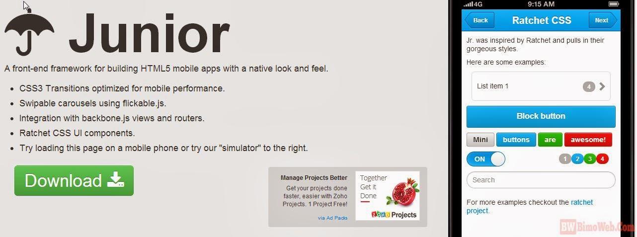 Junior HTML5 Framework