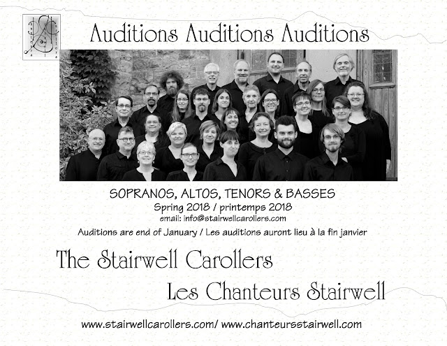 Auditions Spring 2018 Ottawa Stairwell Carollers SATB