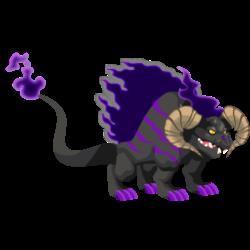 Dragón Fuego Oscuro (Adulto)