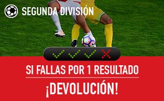 sportium devolucion combinada segunda division 24-26 marzo