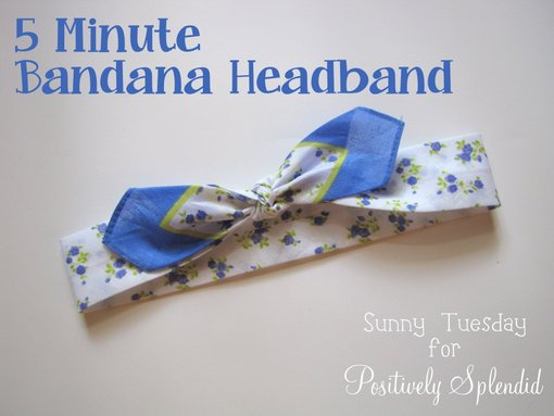 5 minute bandana headband positively splendid crafts for Home decor 5 minute crafts