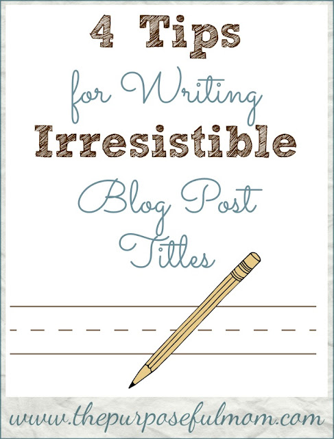 Don't just use the first thing that comes to mind for the title of an important blog post or article! Catch people's interest and keep it with these 4 tips for writing irresistible blog post titles.