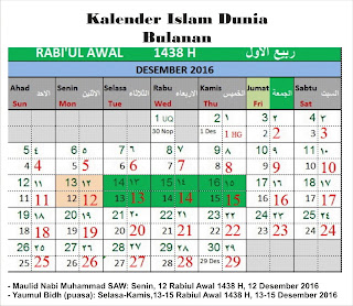 Bulan Rabiul Awal 1438 H Kalender Islam Bersatu Hikmah 313