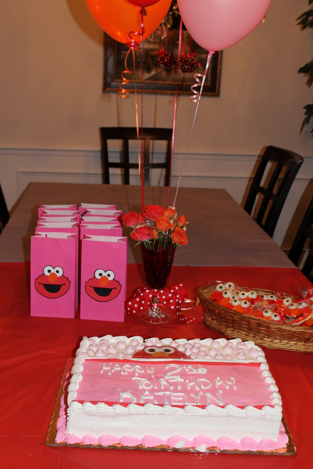 I Jumped At The Chance To Help With Her Elmo Themed 2nd Birthday Party We Wanted It Be A Girly So Made Sure Use Lots Of Pink