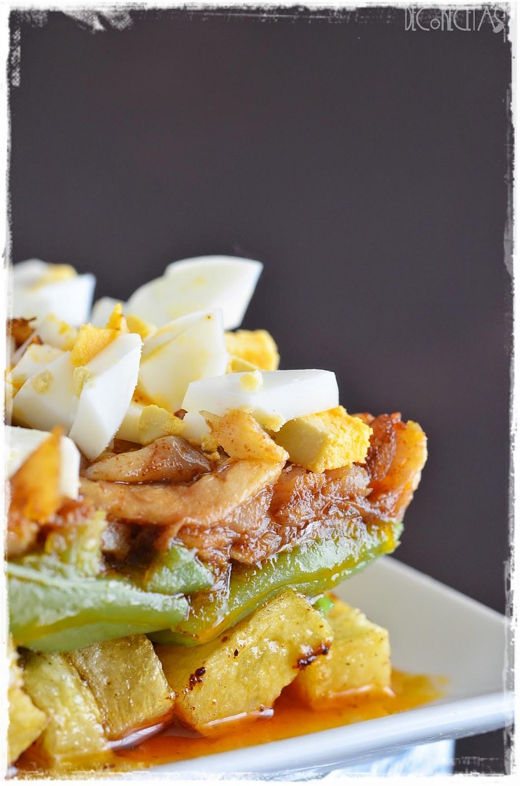 Ensalada de judias verdes con patata y pescado