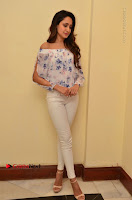 Actress Pragya Jaiswal Latest Pos in White Denim Jeans at Nakshatram Movie Teaser Launch  0042.JPG