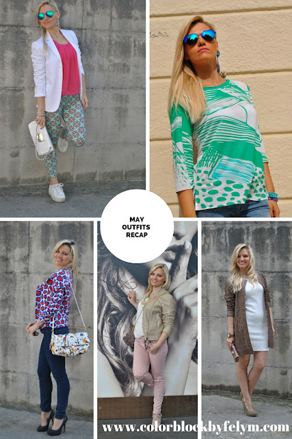 recap outfit maggio 2016 may outfit outfit primaverili outfit maggio 2016 mariafelicia magno fashion blogger blogger italiane