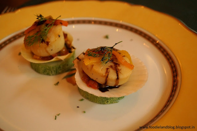 Pan Seared Scallops @ An Evening Affair with Comedy and Gastronomy @ Vivanta by Taj - Yeshwantpur | Bangalore