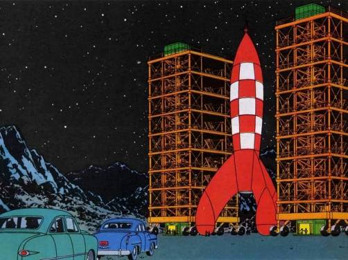 The Comic Pusher: Tintin On The Moon And Beyond, Herge's