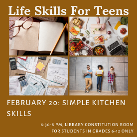 Life Skills for Teens: Cooking