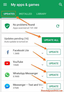 Android Mobile Applications Update Kaise Kare