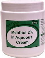 aqueous menthol cream