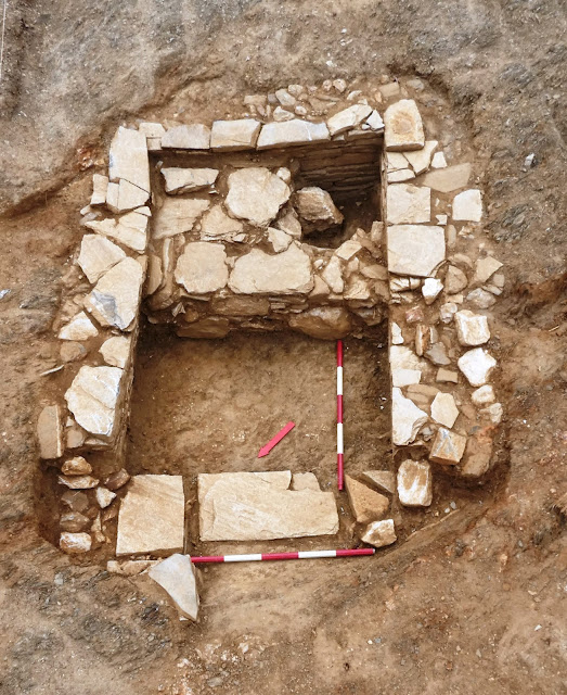 Cemetery from prehistoric and historical times excavated in Aliveri, Greece