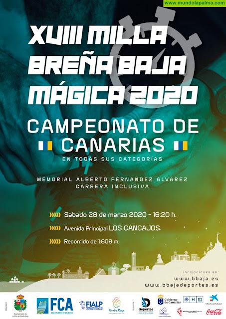 """BREÑA BAJA: Abierta Inscripciones para la XVIII Milla """"Breña Baja Mágica 2020"""""""