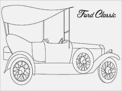 Classic Ford Coloring Pages