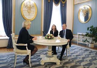 Συνάντηση Πούτιν με Λεπέν στο Κρεμλίνο. (ΦΩΤΟ)