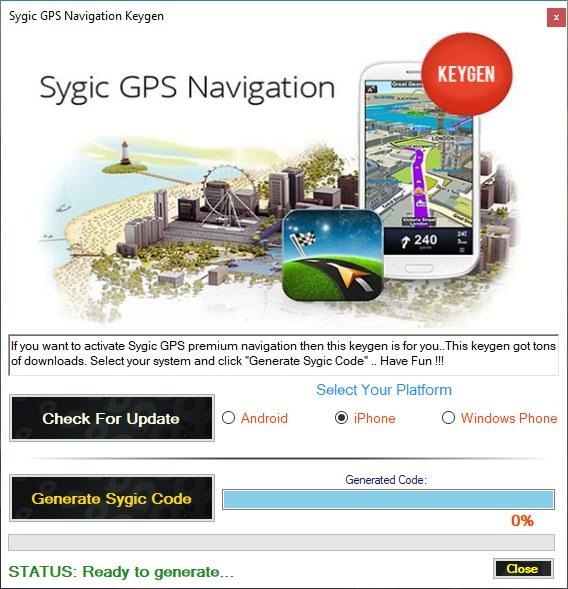 Keygen gps sygic android freeware