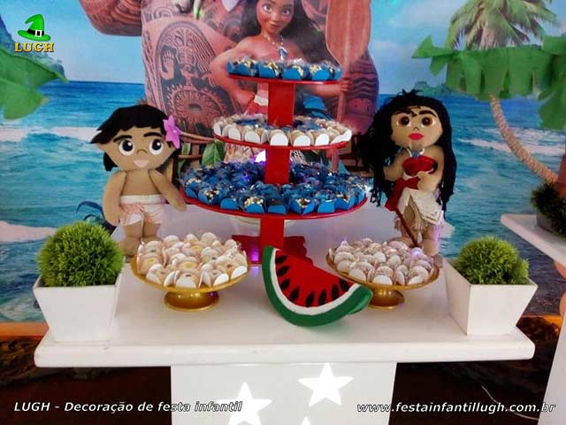 Decoração de festa infantil Moana - Aniversário de meninas