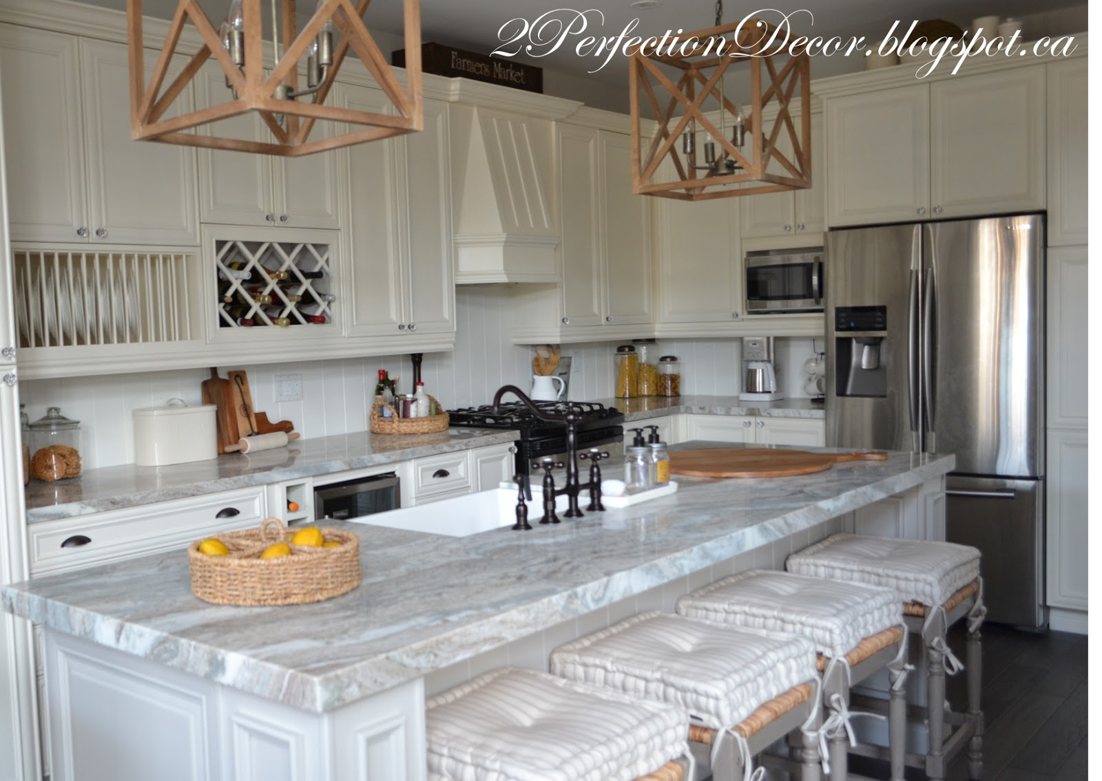 2perfection decor farmhouse kitchen reveal - Kitchen table richmond vt ...