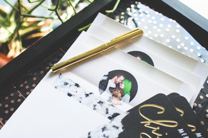 the dainty squid, custom holiday card, christmas cards