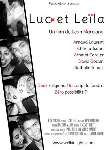 L'affiche de Luc et Leïla, le court métrage de Leah Marciano