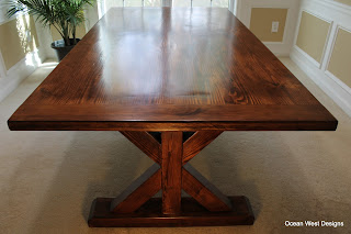 Custom Farmhouse Trestle Table