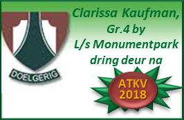 Clarissa Kaufman, Gr.4 by L/s Monumentpark praat haar pad oop na ATKV 2018 met 'n Raakpraat-toespraak van Raakpraat-Redenaars!