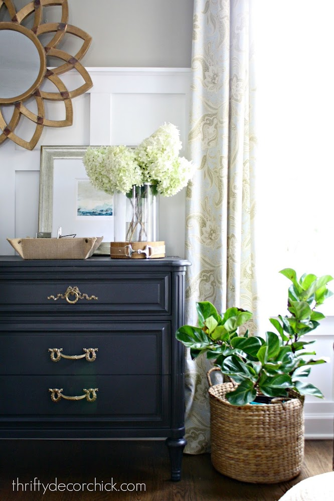 black dresser gold hardware