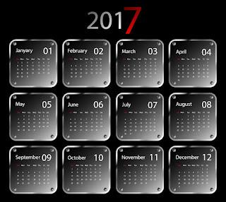2017カレンダー無料テンプレート196
