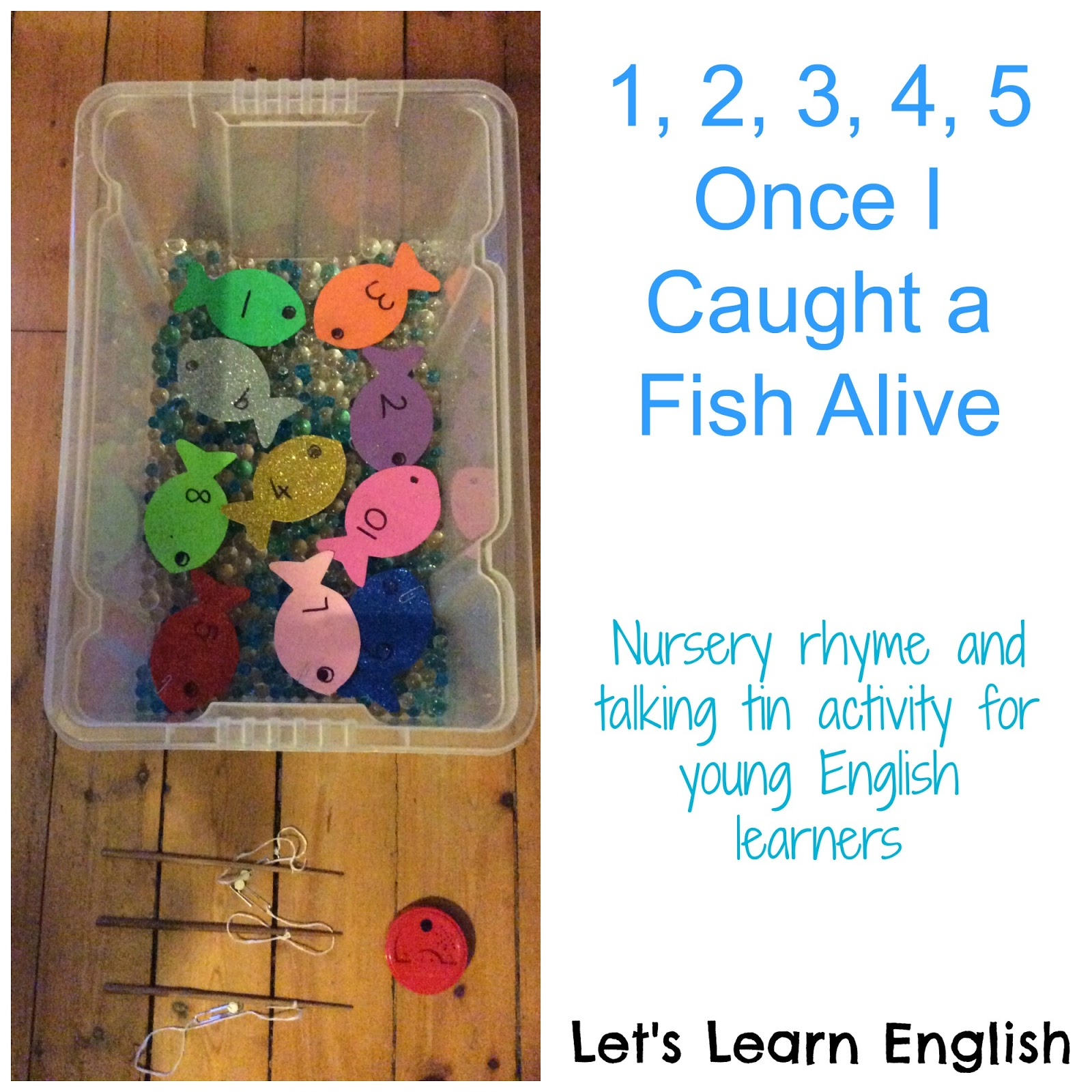 Let 39 s learn english for kids world nursery rhyme week day for Once i caught a fish alive