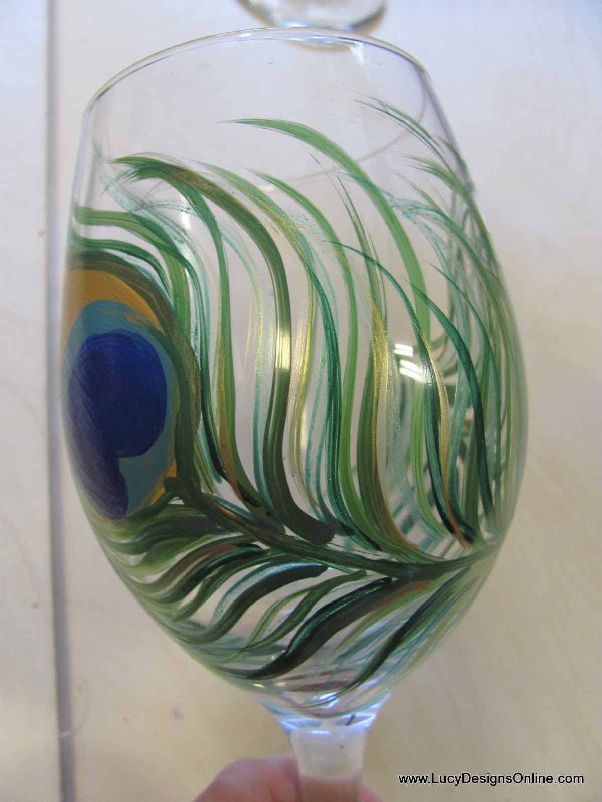 Hand Painted Peacock Feather Wine Glasses Tutorial, DIY ...