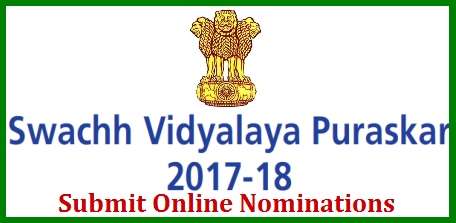 MHRD SVP Swachh Vidyalaya Puraskar Eligibility Guidelines Submit Online Registration Form @mhrd.gov.in MHRD Govt of India Inviting Online Nominations for Swachh Vidyalaya Puraskar 2017-18 Academic Year @mhrd.gov.in from Govt Aided and private Schools all over the India. Eligibility criteria Methodology for selection of Schools for the Awards. Scoring method Stages and Time lines of Awards process Self Assessment Process for school level information list of Indicators svp-swachh-vidyalaya-puraskar-2017-eligibility-guidelines-nominations-form-submission-mhrd.gov.in-online.